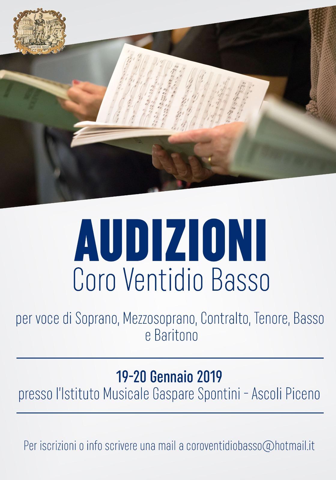 c49f1010a8 L'Associazione Coro Ventidio Basso di Ascoli Piceno cerca giovani cantanti  o aspiranti con la voglia di mettersi in gioco e provare l'esperienza di  CANTARE ...